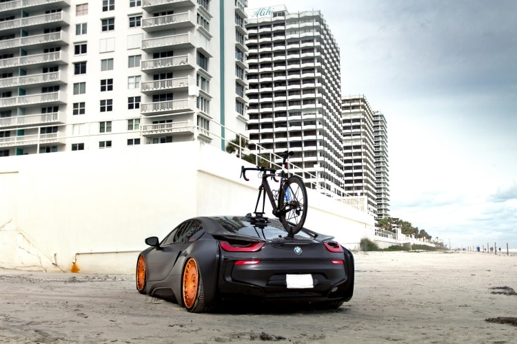 BMW I8 with bike